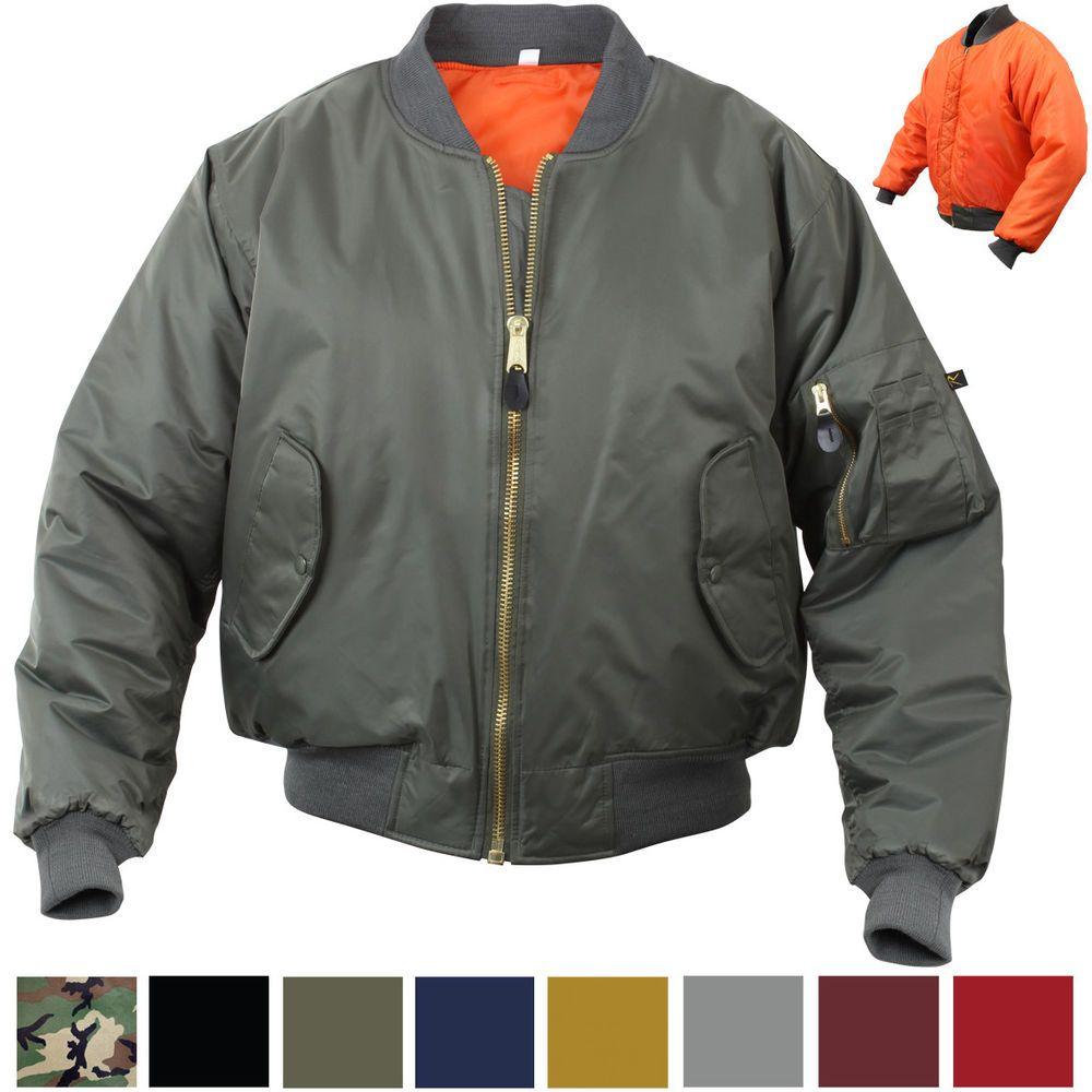 Ma 1 Flight Jacket Military Bomber Coat Reversible Orange Ma1 Army Air Force Rothco Flightbomber Flight Jacket Military Flight Jacket Military Bomber Jacket [ 1000 x 1000 Pixel ]