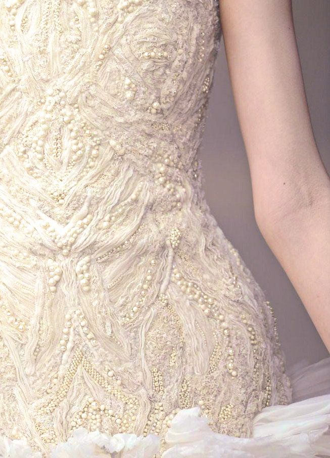 Lace and pearl dress