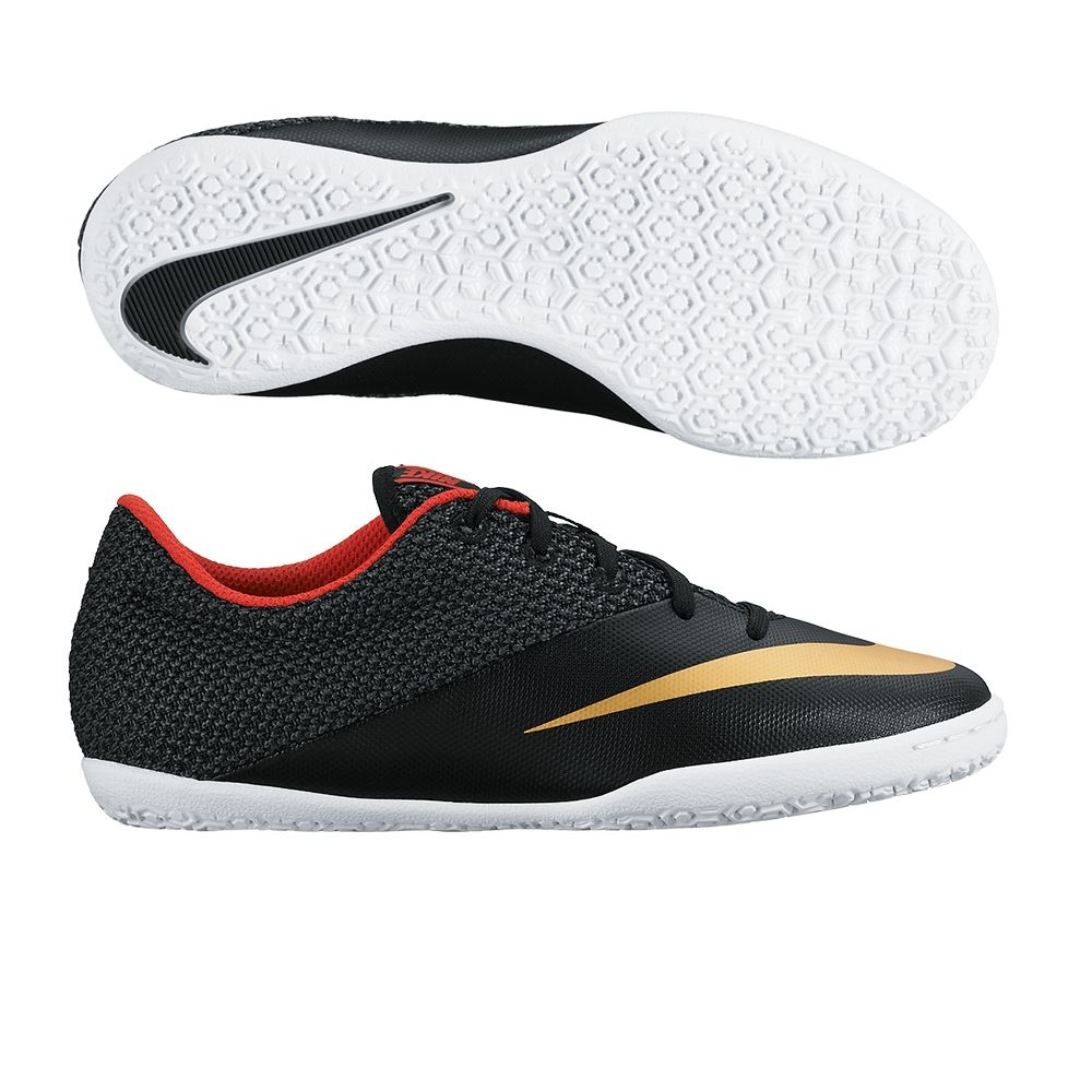 $49.49 - Nike Youth MercurialX Pro Indoor Soccer Shoes (Black/Challenge  Red/White/Metallic Gold) | Nike Indoor Soccer Shoes | FREE SHIPPING | 725280-076  ...