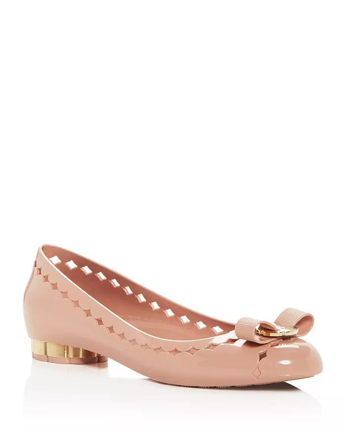 Jelly Vara Bow Cutout Flats Shoes