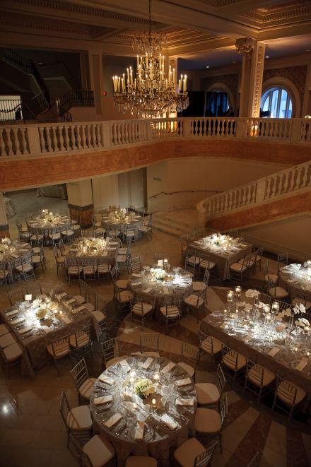 Matt Mendelsohn Photography, Bright Occasions Real Wedding, Flowers by Edge Floral Event Designers at National Museum for Women in the Arts #whiteandgraywedding #dcwedding