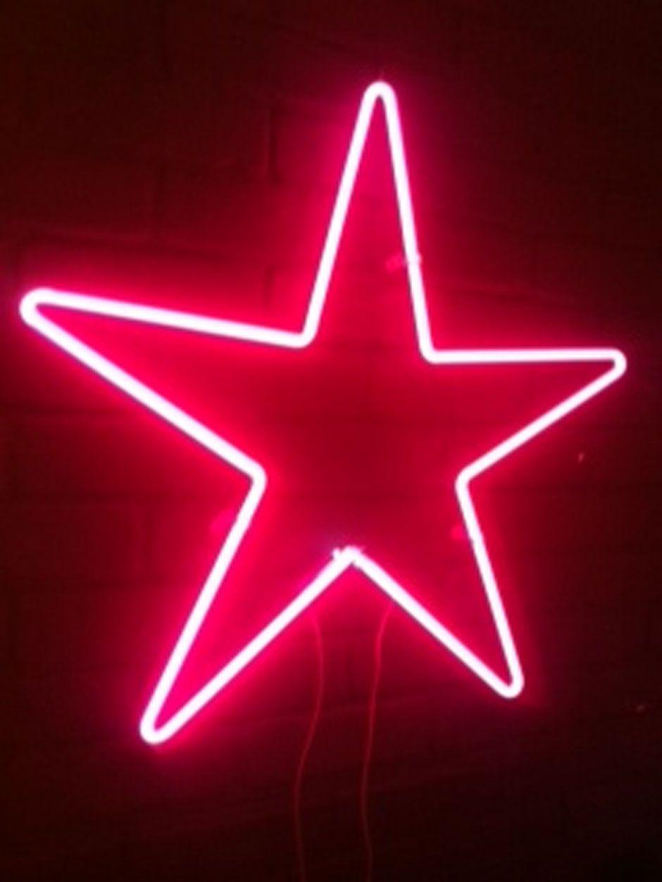 Stjerneform, lys og rød farve giver ildenergi som området for anerkendelse godt ka li'