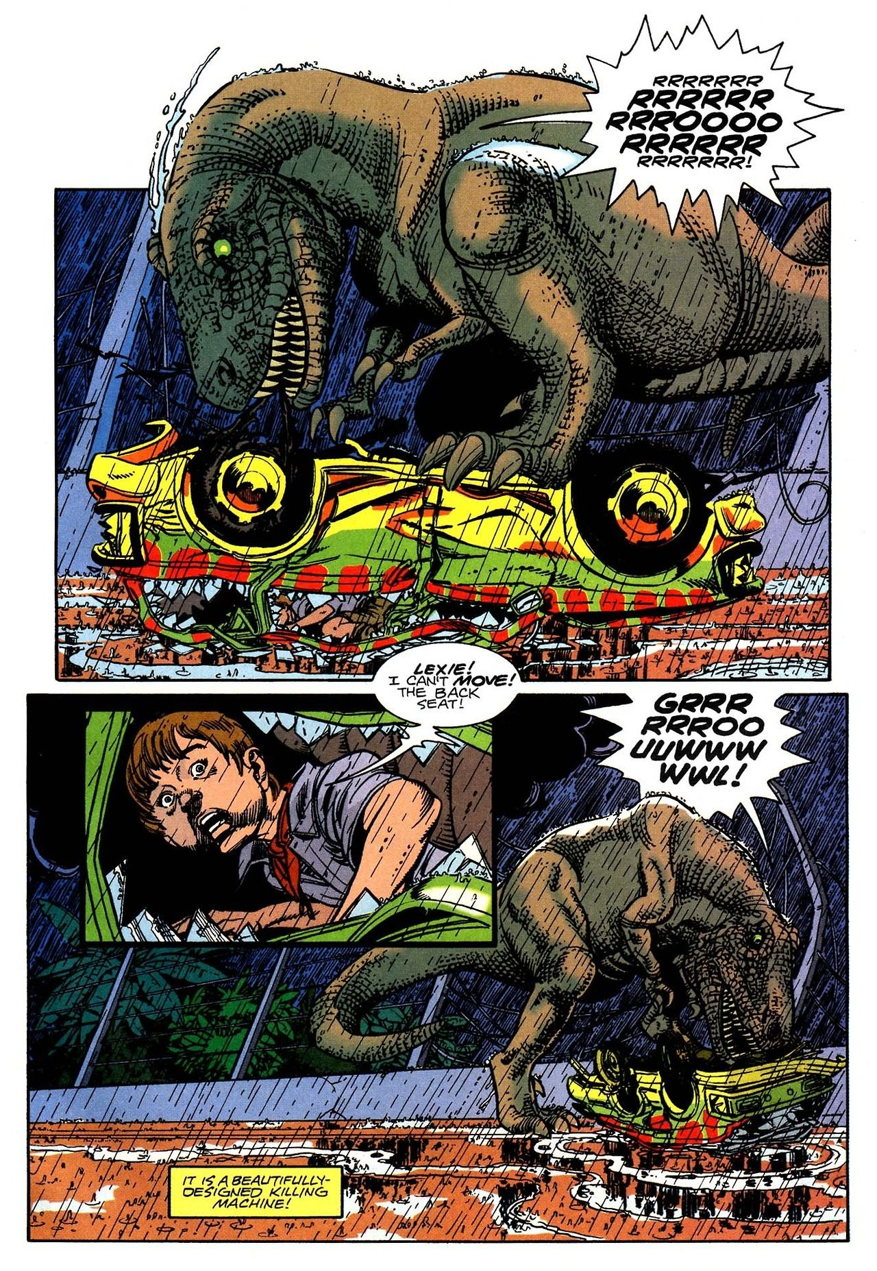 """coolpages """" Jurassic Park 3 (Topps Comics July 1993"""