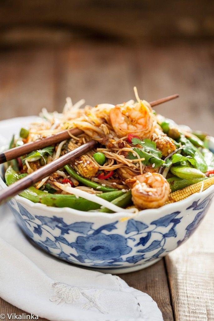 Speedy Sesame Shrimp Stir Fry - Vikalinka