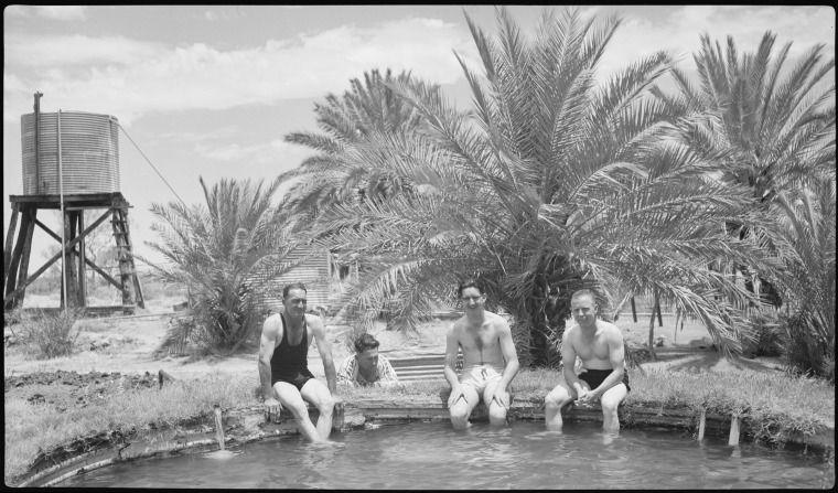112851pd Swimming Pool At Corunna Downs Station Near Marble Bar Western Australia 1940 Western Australia Swimming Pools Corunna