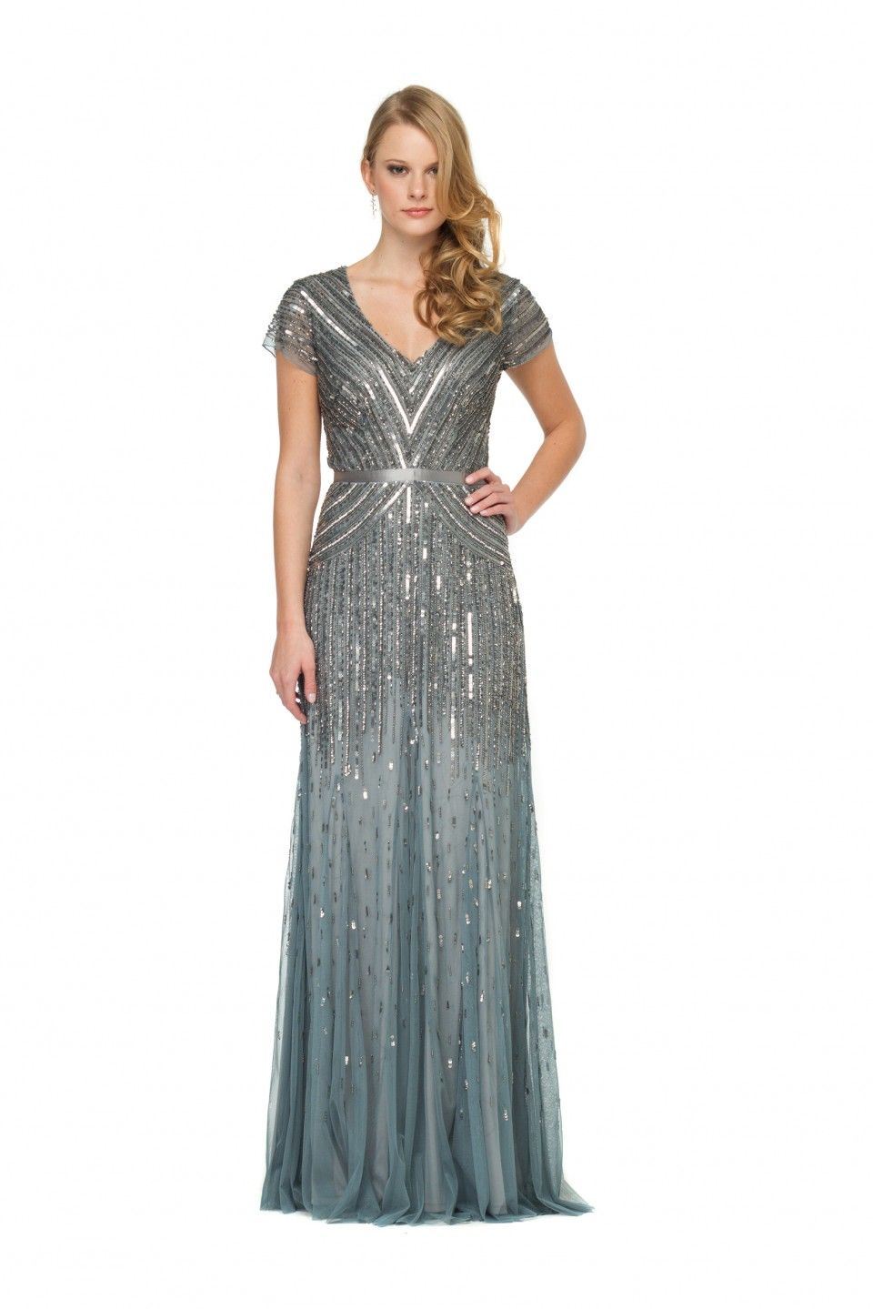 Long dress for wedding guest  SAME NO MORE  Adrianna Papell Long Dress  haute couture
