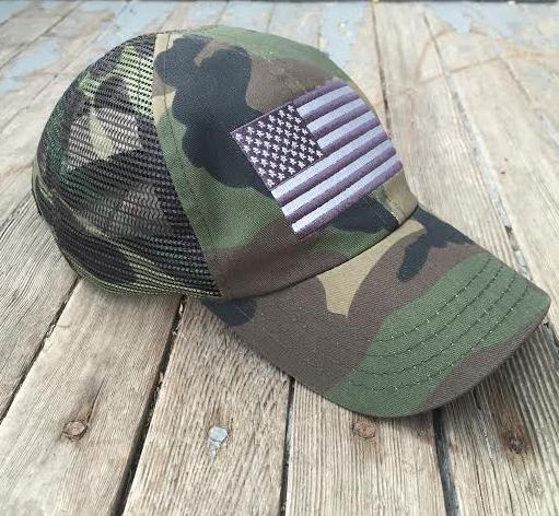 22ddb74d787 ... Trucker Hat  super popular bac4c 12e17 American Flag Woodland Mesh Back  Hat (Woodland Woodland) Woodland Camo ...