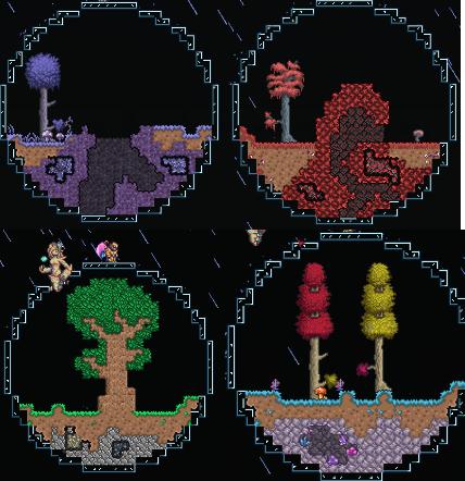 Made Some Mini Biome Domes Terraria Biomes Terrarium Mini