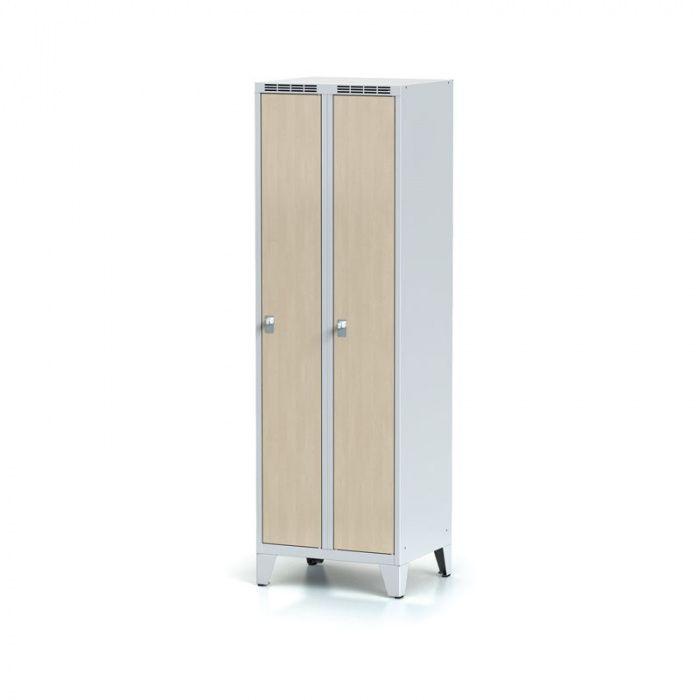 Wardrobe on legs, laminated birch door, cylindrical …