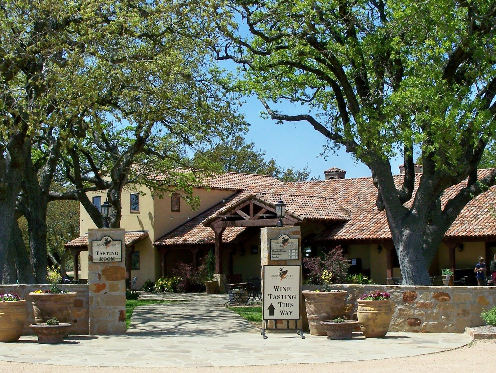 Grape Creek Winery Sippin Wine Here Texas Texas
