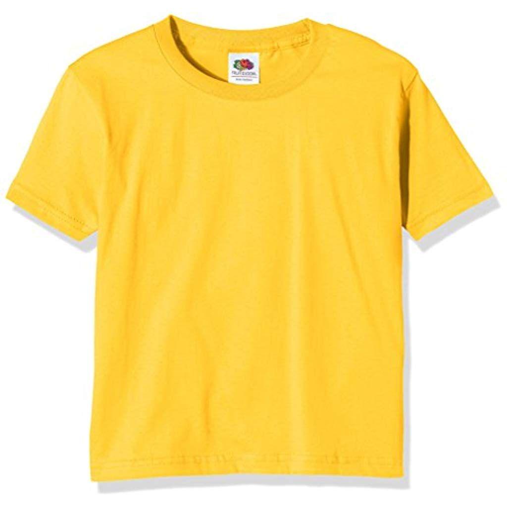 FRUIT of The Loom Bambini T-Shirt Ragazza Maglietta a maniche corte shirt