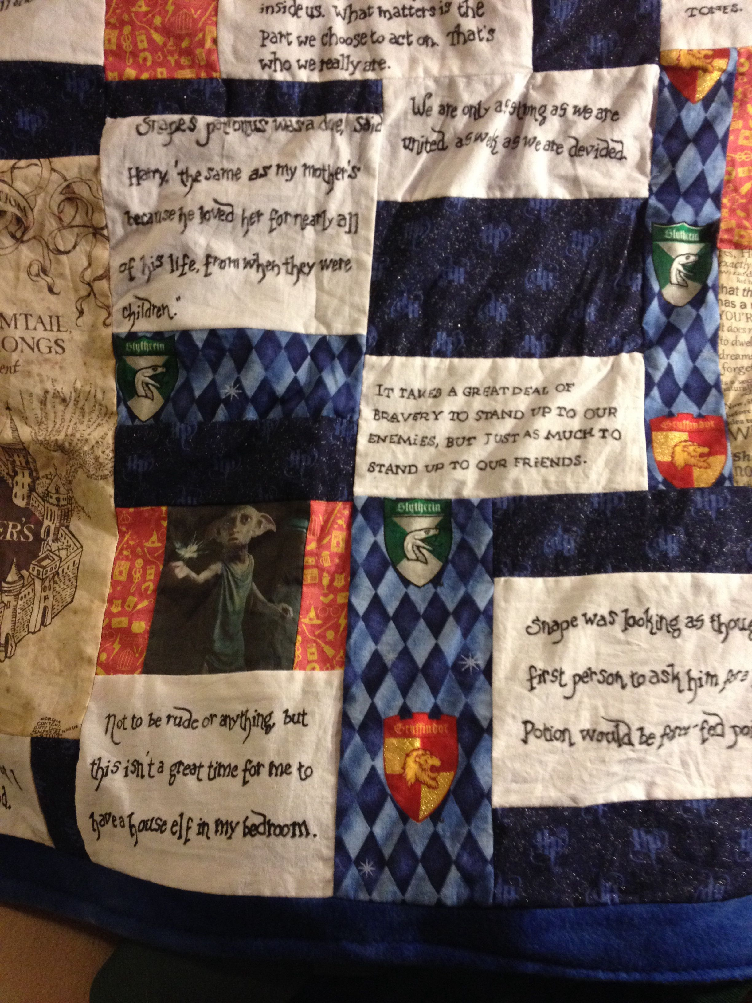 Harry Potter Quilt Harry Potter Hodgepodge Pinterest