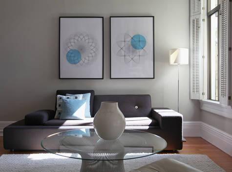 Wohnzimmer grau - sofa grau-Decor Pad Schöner wohnen Pinterest - wohnzimmer ideen grau turkis