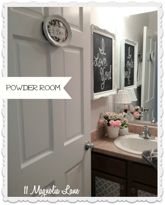 Our New Home The Powder Room Guest Bathroom Powder Towels And Cabinets