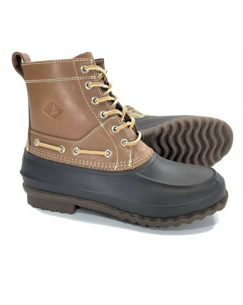 b01b3eb43 Sperry Top-Sider Decoy Mens Size 12 Duck Boots Waterproof Leather STS13457  Rain #fashion