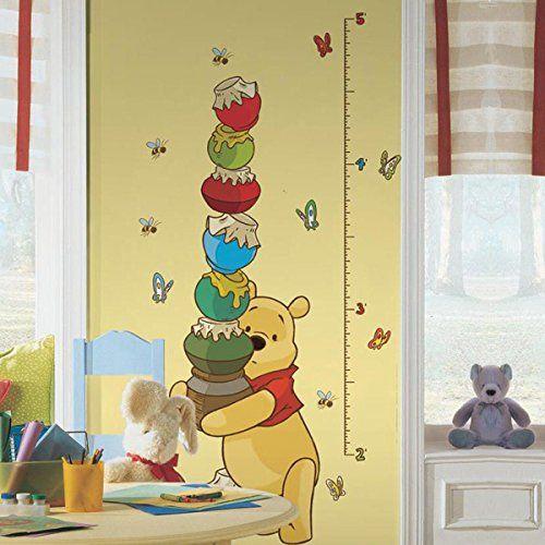 Fresh Winnie Pooh Messlatte f r das Kinderzimmer Wandtattoo