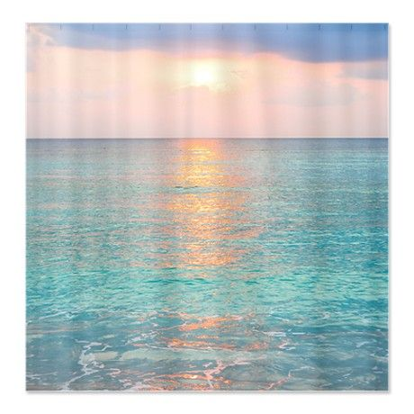 Ocean Sunrise Sunset Shower Curtain