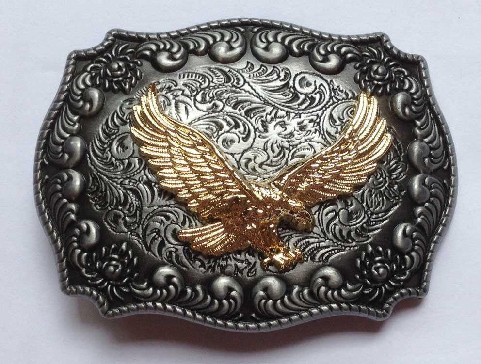 Western Mens Alloy Vintage Fashion Leather Belt Buckle Cowboy Pattern Metal NEW