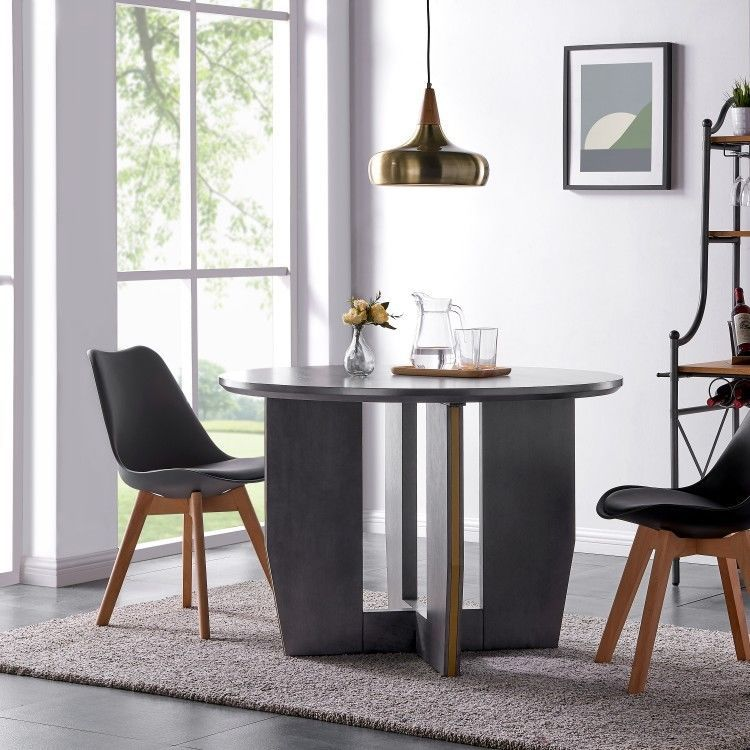 Details About Wooden Round Dining Table Modern Kitchen Counter