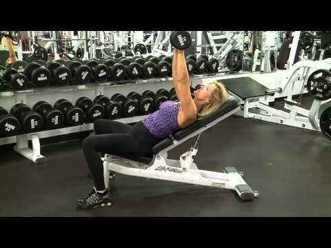 how to do incline dumbbell bench press  women's fitness
