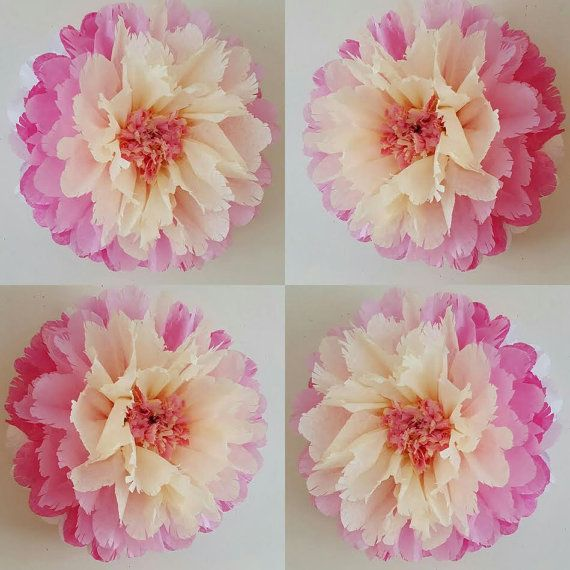 1 wall flower 1 butterfly girls birthday party decorations tissue one tissue paper hanging wedding party babyshower bedroom wall flowers party decorations mightylinksfo