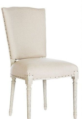 Ethan Upholstered Dining Chair in Linen - Set of 2
