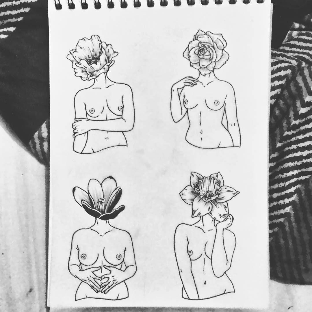 Femmes fleurs <3 all available chimaerauniverse@gmail.com #tattoo #tattoodesign #flashtattoo #flashworkers #blackworker #ladytattooer #chimaera #flowerstattoo #womantattoo #paristattoo #noirtattoos #enfantterribletattoo #inkessmagazine #darkartists #darkartunion