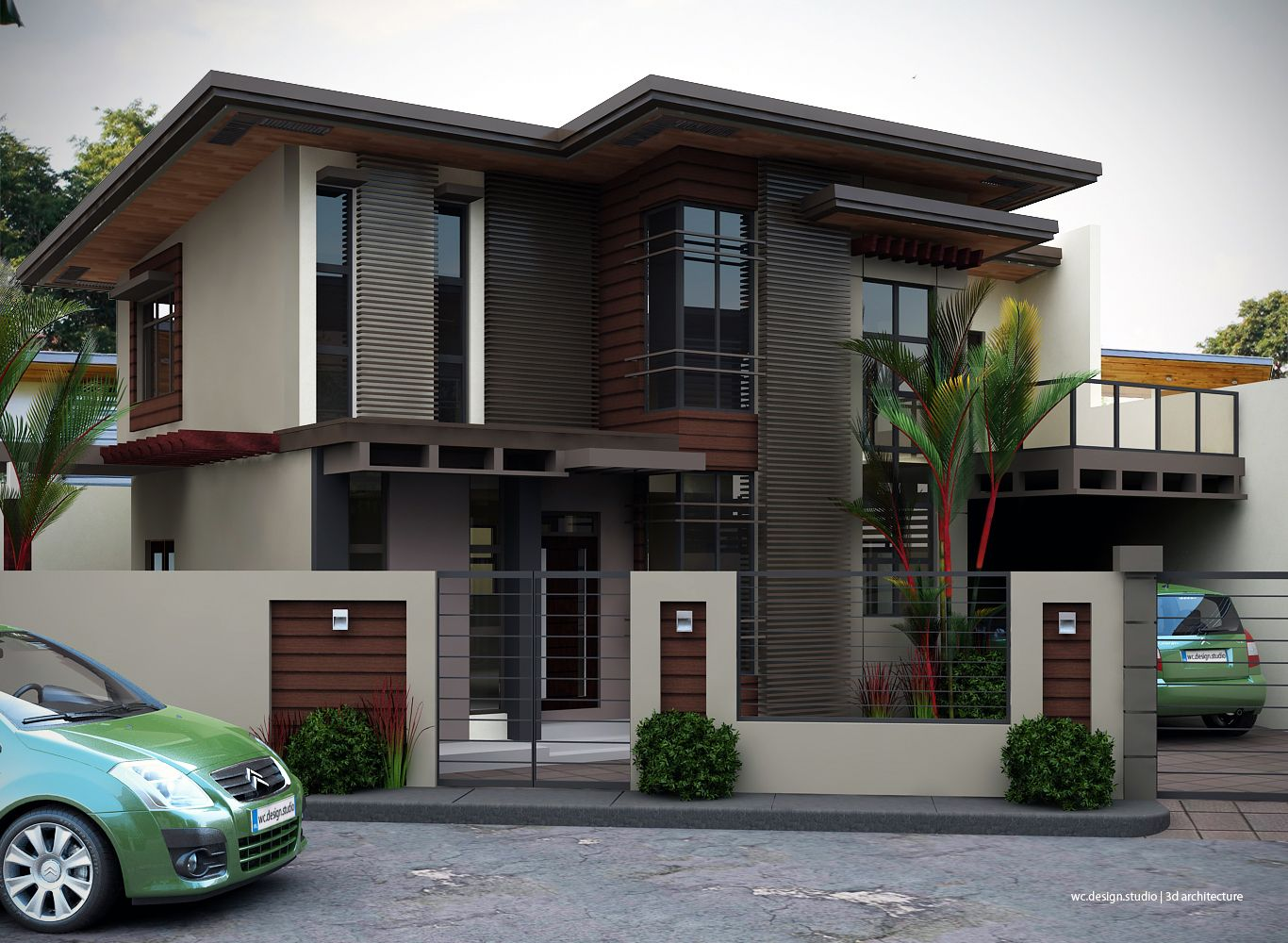 Although most homeowners will spend more time inside of for Two storey modern house design