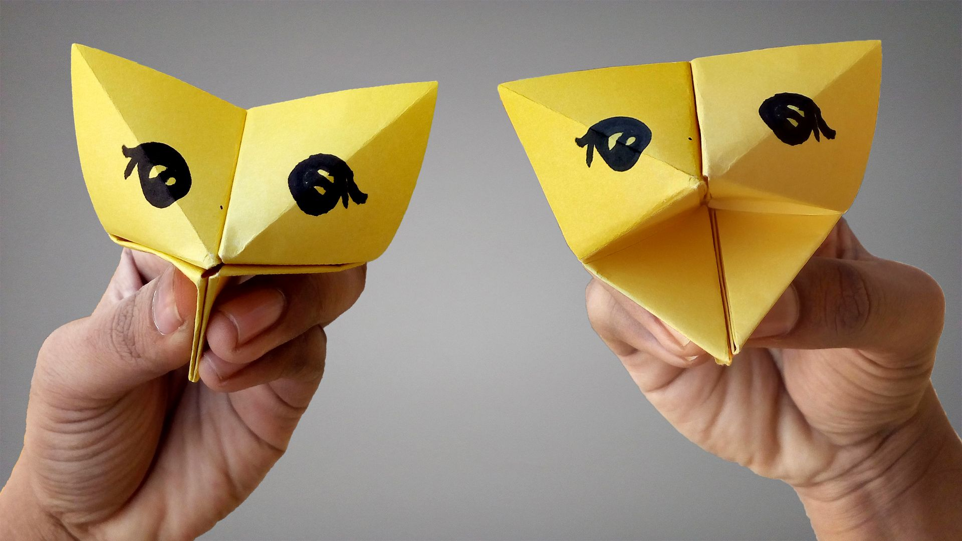 Step By Step Instructions How To Make Origami A Cat. Royalty Free ... | 1080x1920