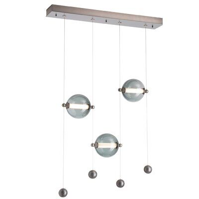 Photo of Hubbardton Forge Abacus 3 – Light Cluster Linear LED Chandel…