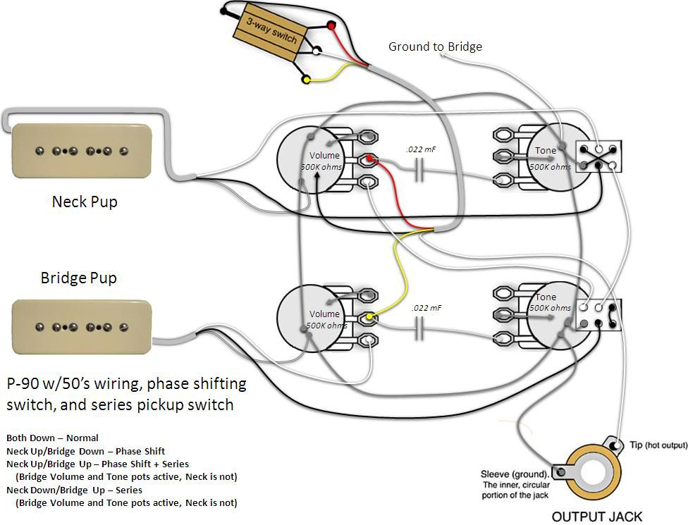 les paul single coil wiring diagram refrigerator wiring
