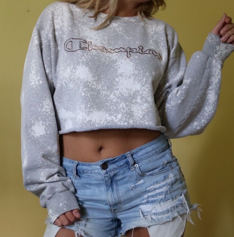 Vintage Champion Sweatshirt Crop Top Diy Crop Top Edgy