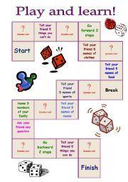 English worksheet: board game on vocabulary part 1 | english ...
