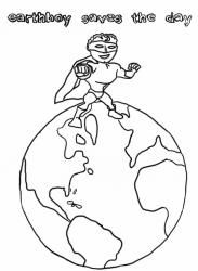 Color the earth Green Earth Coloring Pages Pinterest Earth