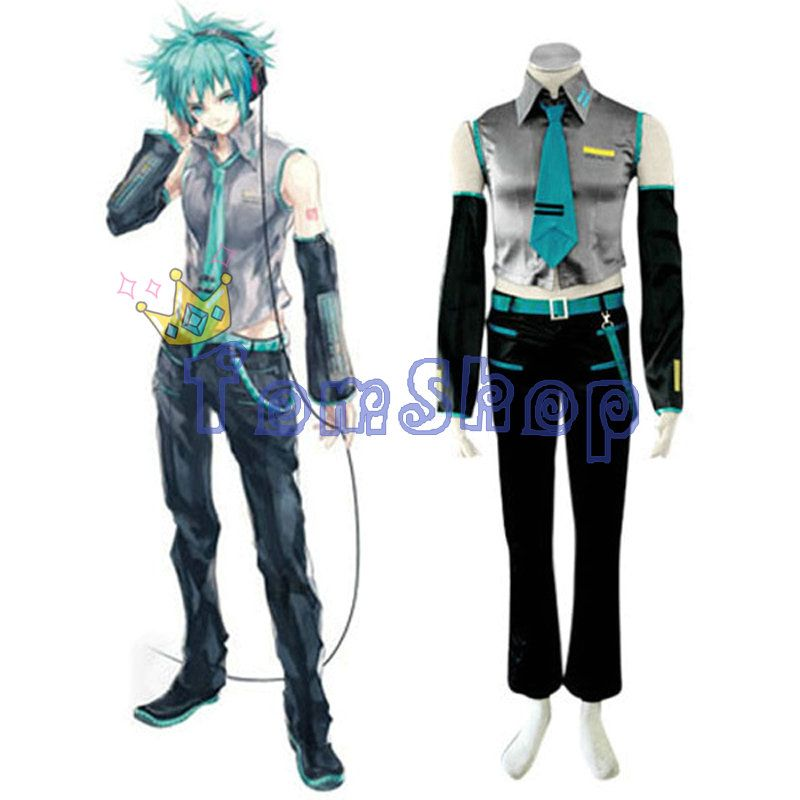 Vocaloid Mikuo Cosplay Uniform Suit Full Set Menu0027s Halloween Costumes High Quality Custom-made Free  sc 1 st  Pinterest & Vocaloid Mikuo Cosplay Uniform Suit Full Set Menu0027s Halloween ...