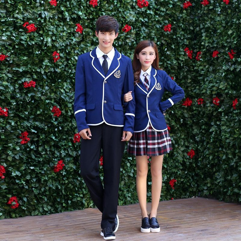 8b635a607 Japanese School Uniform For Boys and Girl JK British Korean College Students  Costumes Women Shirt+Jacket+Skirt Clothes Set(China (Mainland))