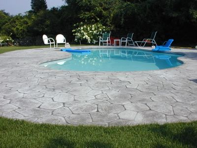 stamped concrete | Stamped concrete can transform a pool deckGet ...