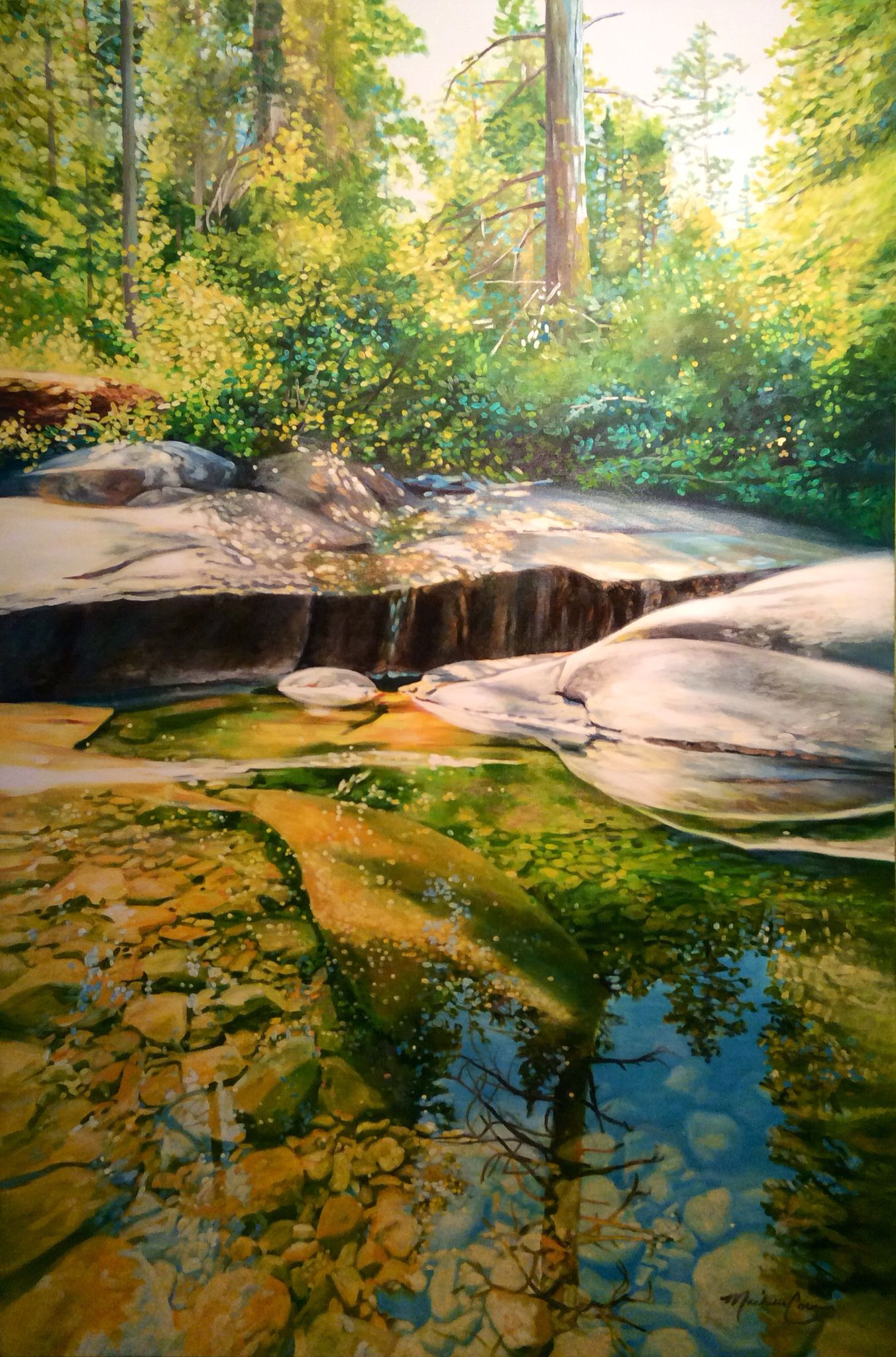 Shirley Creek Acrylic Painting By Michelle Courier