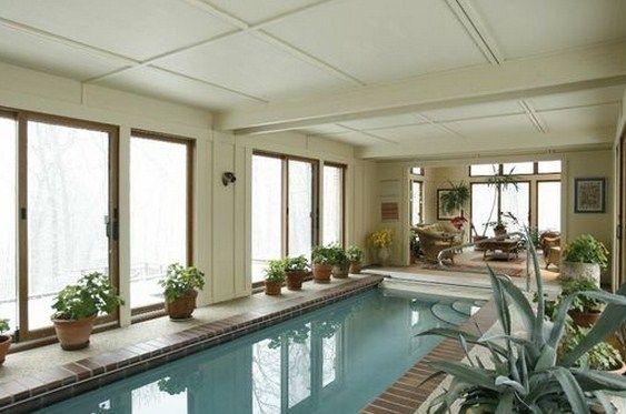 Piscina techada planos para casas en 2019 planos de for Diseno de piscinas para casas de campo