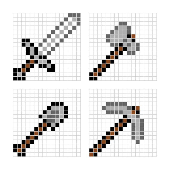 Minecraft Pixel Art Ideas Templates Creations Easy / Anime