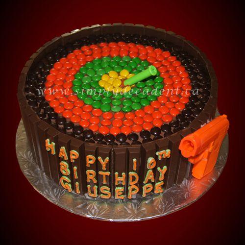 Kit Kat Bullseye Birthday Cake With Smarties Target And