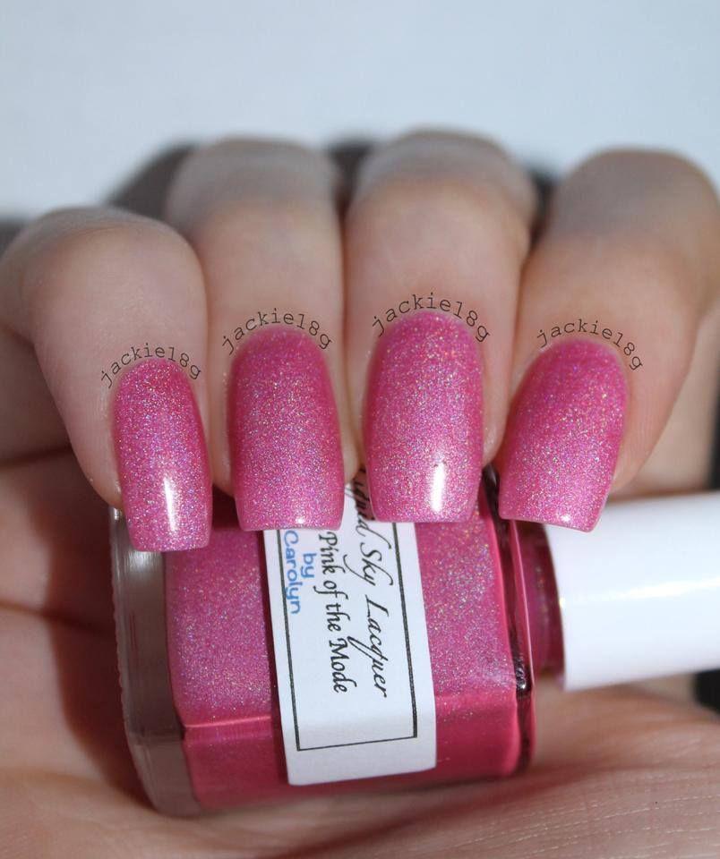 Jackies pink of the mode handmade nail polish
