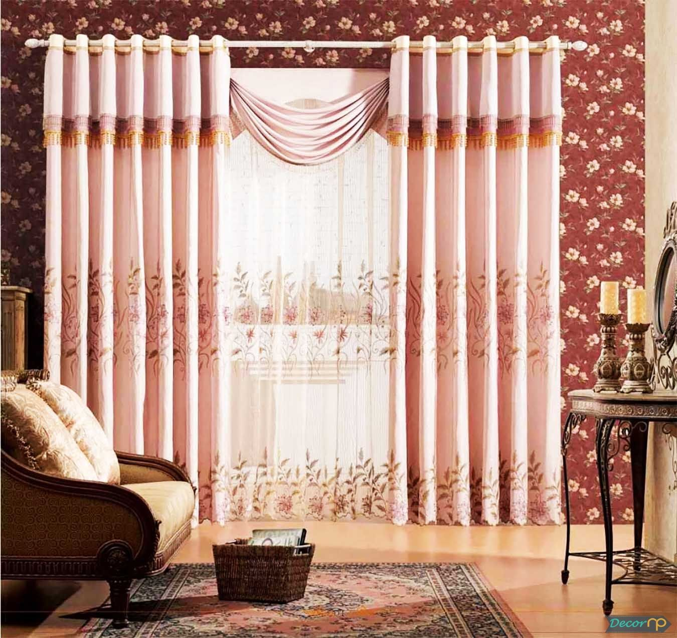 30 Very Stylish Living Room Curtain Models