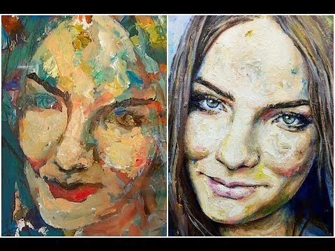 Learn how to paint a portrait with acrylic paint by Gordon Berger ...