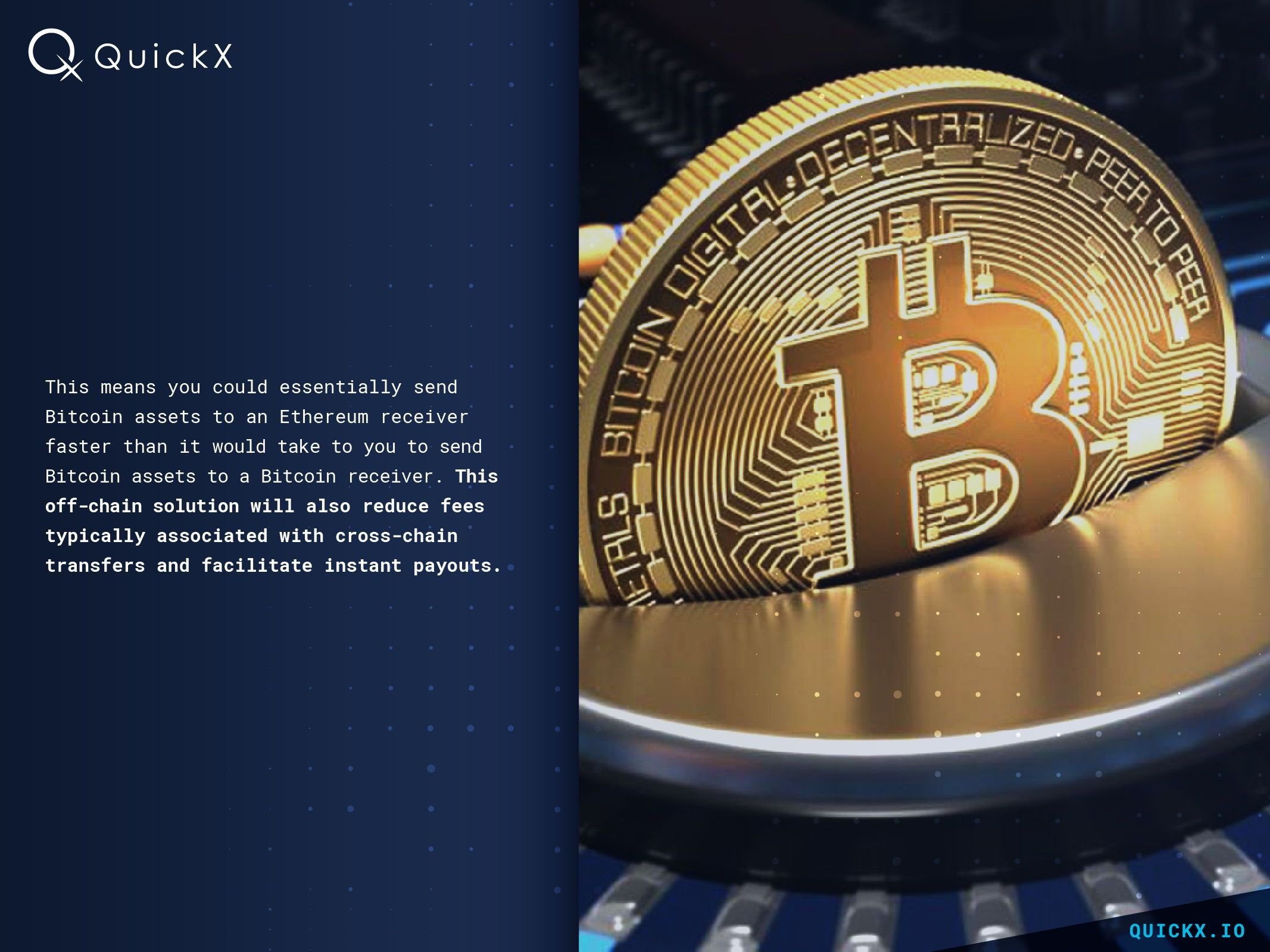 QuickX io  Faster cross-chain transactions represent the
