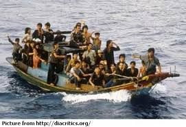 Image result for Vietnamese boat people image