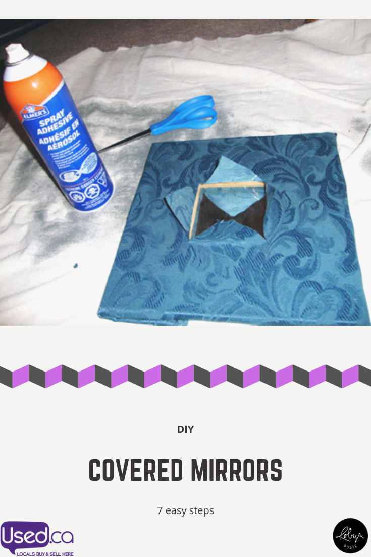 Diy Covered Mirrors Mirrored Projects Diy Sprays Diy