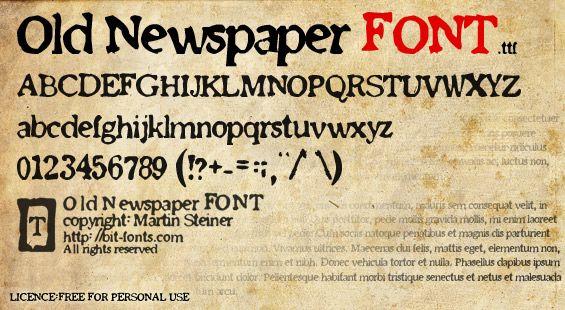 Old Newspaper Font Dafont Com Handwritten Typography Old Newspaper Graphic Design Fonts