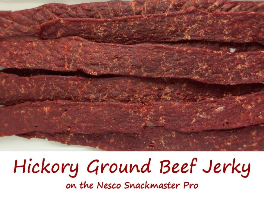 Hickory Ground Beef Jerky On The Nesco Snackmaster Pro Life S A Tomato Ripen Up Your Life Recipe Jerky Recipes Beef Jerky Beef Jerky Recipes