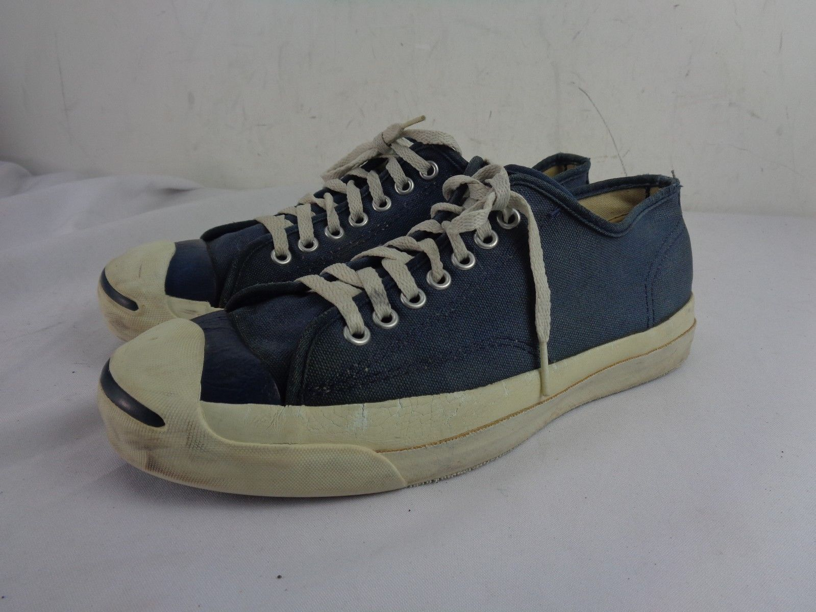 c084aa4b2e0058 Converse Jack Purcell Blue Canvas Sneakers PF USA 1960 s -70 s Vintage Sz  8.5